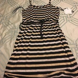 Calvin Klein 8 NWT striped dress.